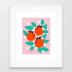 Bodacious - modern abstract minimal 1980s throwback memphis design trendy palm springs art Framed Art Print