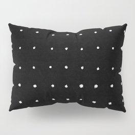 Dot Grid White on Black Pillow Sham