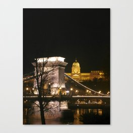 On the river Danube Canvas Print