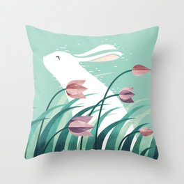 Rabbit, Resting Throw Pillow