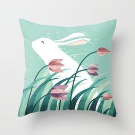 Rabbit, Resting Throw Pillow