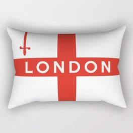 london city england country flag name text Rectangular Pillow