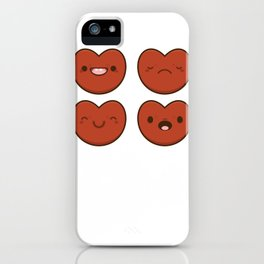 #11 Hearts iPhone Case