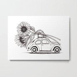 Season of Sunflowers Metal Print
