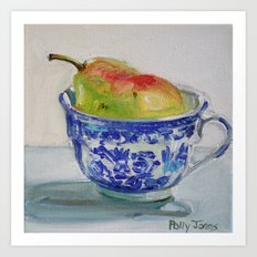 A Cup of Pear Art Print
