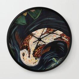 Koi Fish and Dragonfly Wall Clock