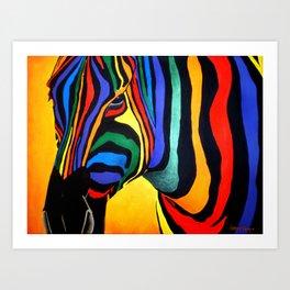 Cavallo Di Colore Art Print
