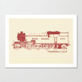 Thompson L1 Red Canvas Print
