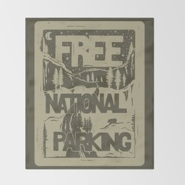 PRKNG Throw Blanket