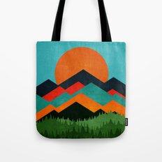 Mixed Mountains Tote Bag