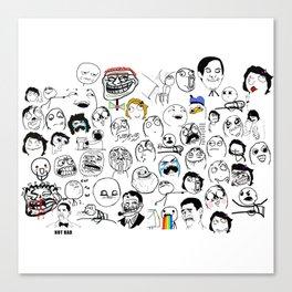 Meme Faces Canvas Print