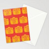 I Still Shoot Film Holga Logo - Reversed Yellow & Red Stationery Cards