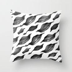 black leaves Throw Pillow