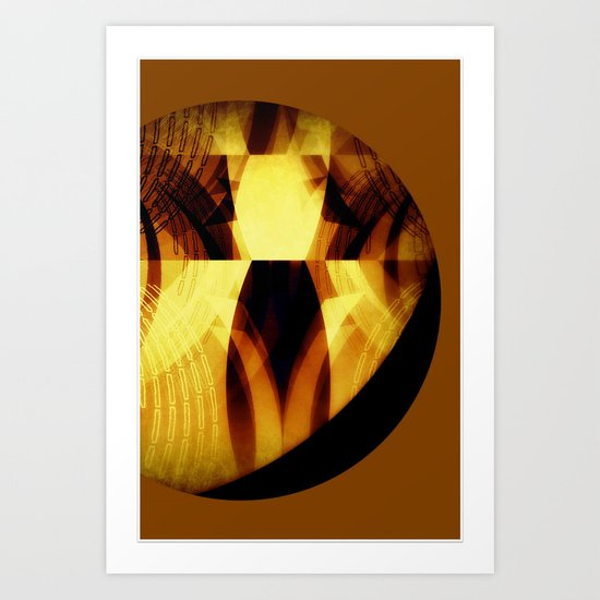 The moon is almost full tonight #II Art Print