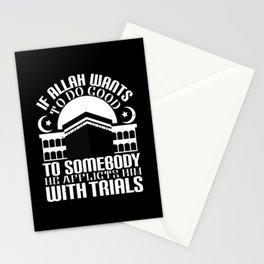 Islam - If Allah Wants To Do Good Stationery Cards
