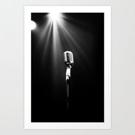 Classic Microphone Kunstdrucke