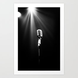 Classic Microphone Art Print