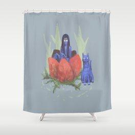 fairy and kitten Shower Curtain