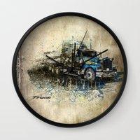 truck Wall Clocks featuring Truck by Svetlana Sewell