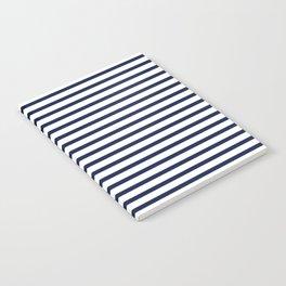 Navy Blue Nautical Stripes Minimal Notebook
