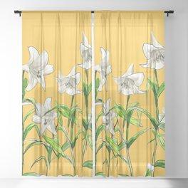 Lilies Sheer Curtain