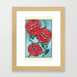 Growing Roses Framed Art Print