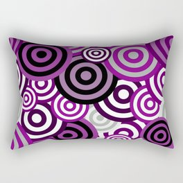 Asexual Pride Assorted Concentric Striped Circles Pattern Rectangular Pillow