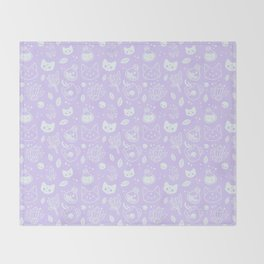 Herb Witch // Purple Pastel Throw Blanket
