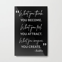 Buddha Quote I Metal Print