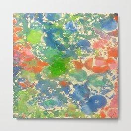 Bubbles, a watercolor abstract artwork. Metal Print