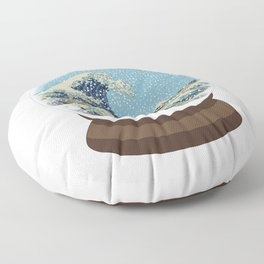 The Great Wave Snow Globe Floor Pillow