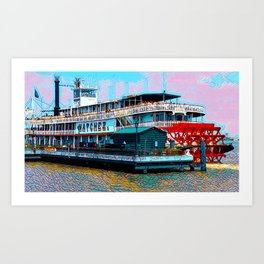 Natchez Riverboat New Orleans Art Print