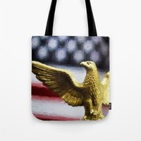 america Tote Bags featuring America by ThePhotoGuyDarren