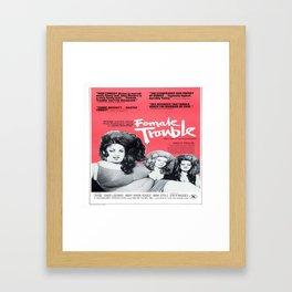 Vintage Female Trouble Movie Poster Framed Art Print
