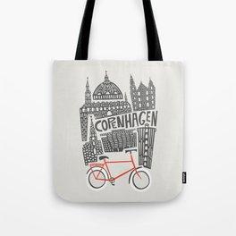 Copenhagen Cityscape Tote Bag