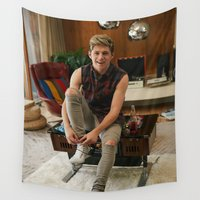 niall Wall Tapestries featuring Niall Horan by behindthenoise