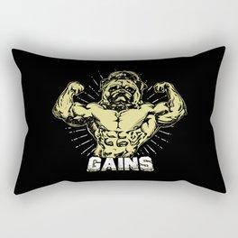 Gains Pug Rectangular Pillow