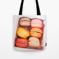 macarons Tote Bags featuring Macarons by Amanda Lily