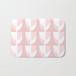Pink Tulips - Abstract Geometric Design Bath Mat