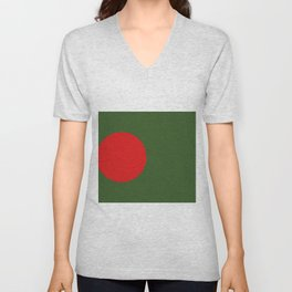 bangladesh flag Unisex V-Neck