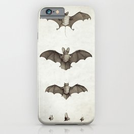 Halloween Bat Illustration iPhone Case