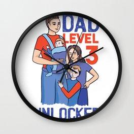 Dad Level 3 Unlocked Wall Clock