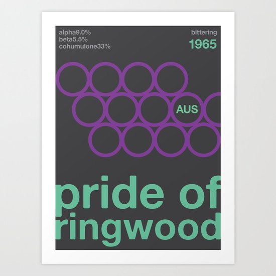 pride of ringwood//single hop Art Print