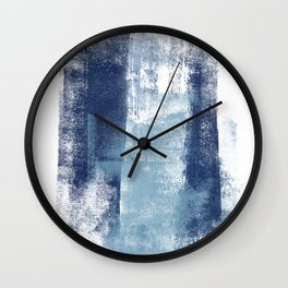 Just Blue and White 1 Wall Clock