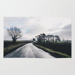 Winter British countryside Rug