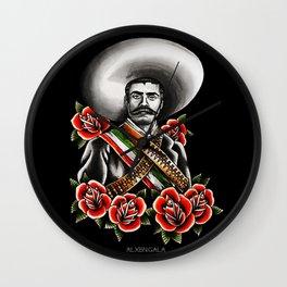 Emiliano Zapata Portrait Wall Clock