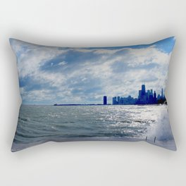 When Sandy Made Waves in Chicago #4 (Chicago Waves Collection) Rectangular Pillow