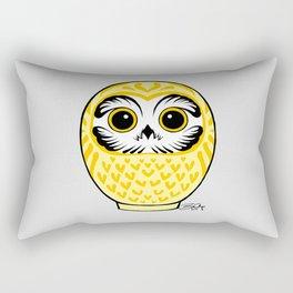 Yellow Fukuro Daruma Rectangular Pillow