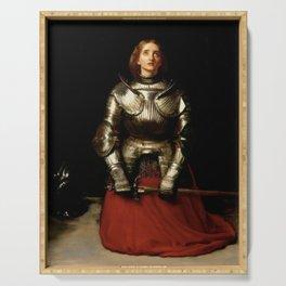 """Joan of Arc"" by Sir John Everett Millais  Serving Tray"