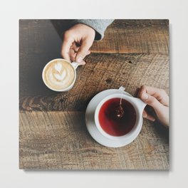 Coffee & Tea Metal Print